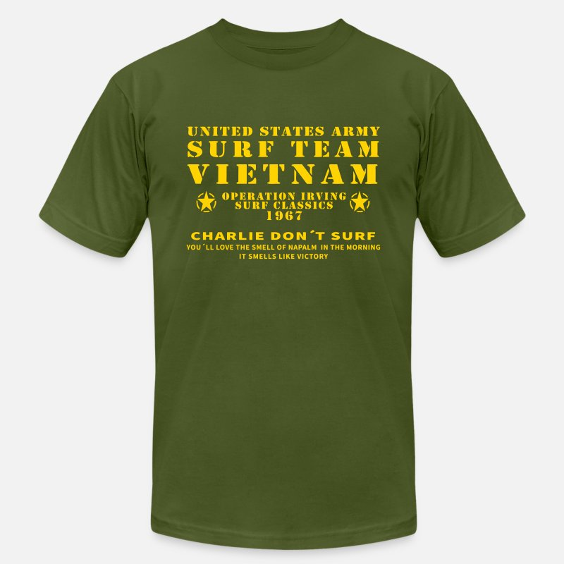 *Charlie Don/'t Surf APOCALYPSE NOW Movie Vietnam Men/'s White T-Shirt Size S-3XL