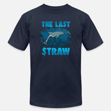 Plastic The Last Straw Dolphin Save The Ocean Plastic Ban - Men's Jersey T-Shirt