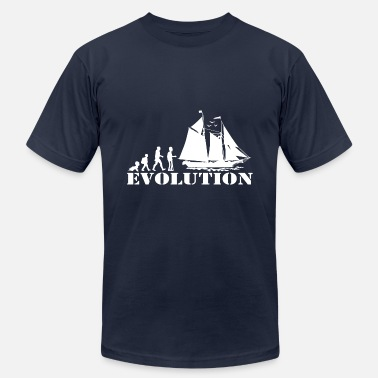Evolution Sailing Sail Boat - Evolution old man - Unisex Jersey T-Shirt