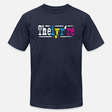 Teacher Meme Theiyr're Their They're There Meme to Drive English Teachers and Grammar Nuts Crazy - Men's  Jersey T-Shirt