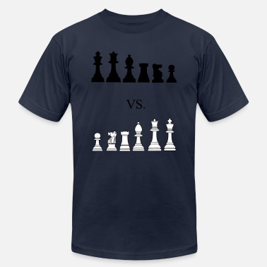 Geek Black vs. White, chess, pawns, chessmen - T-shirt unisexe