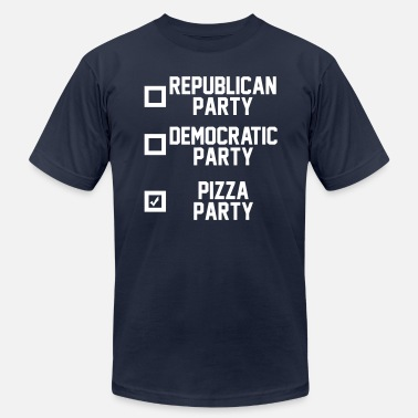 Vote Pizza Party Pizza Party - Men's Jersey T-Shirt