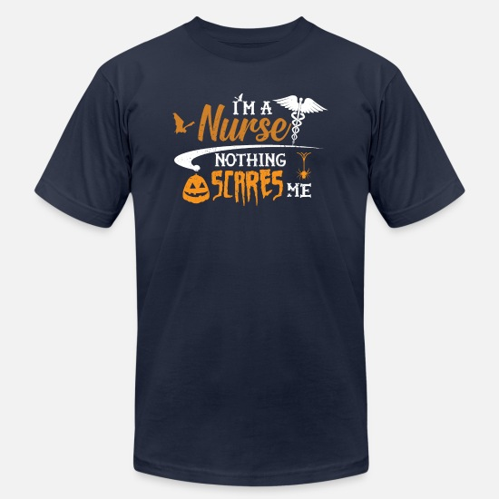 Happy T-Shirts - Halloween Nurse - I'm a nurse nothing scares me - Unisex Jersey T-Shirt navy
