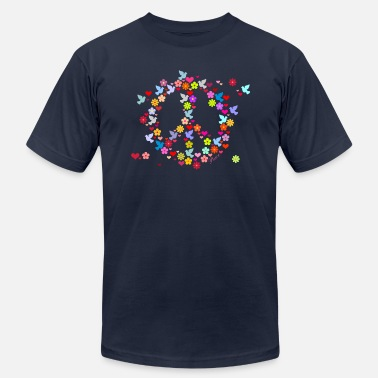 Flowers flower power peace (DDP) - Unisex Jersey T-Shirt