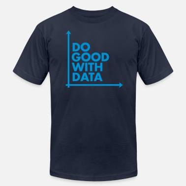 Geek Do Good With Data Line Graph - Unisex Jersey T-Shirt