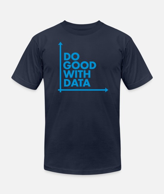 Visualization T-Shirts - Do Good With Data Line Graph - Unisex Jersey T-Shirt navy