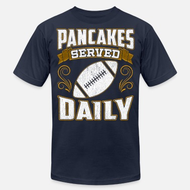 Rugby Christmas Football Offensive Lineman Pancakes Served Daily - Men's  Jersey T-Shirt