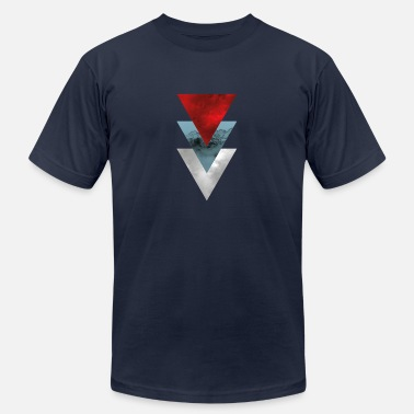 3 Triangles 3 Triangles Mountain - 2 - Men's  Jersey T-Shirt