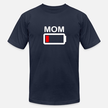 Low Battery Mom (Battery Low) - Men's  Jersey T-Shirt