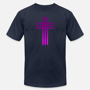 Proud To Be Catholic Catholic Cross - Men's  Jersey T-Shirt