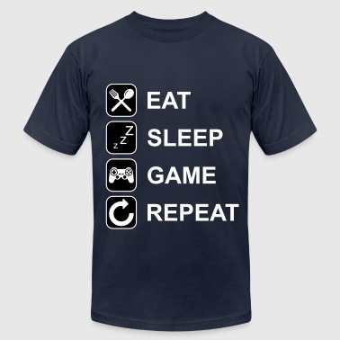 Eat Sleep Game Repeat - Men's Fine Jersey T-Shirt