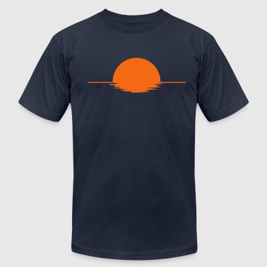 Sundown - sunset - lake - sea - Men's Fine Jersey T-Shirt