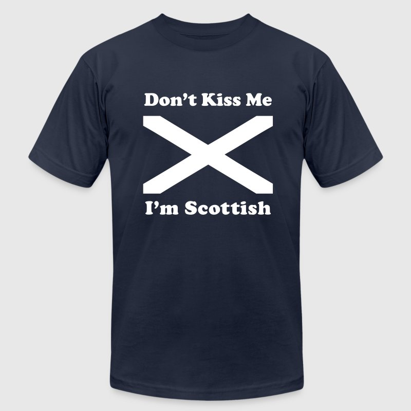 Don't Kiss Me, I'm Scottish - Men's Fine Jersey T-Shirt