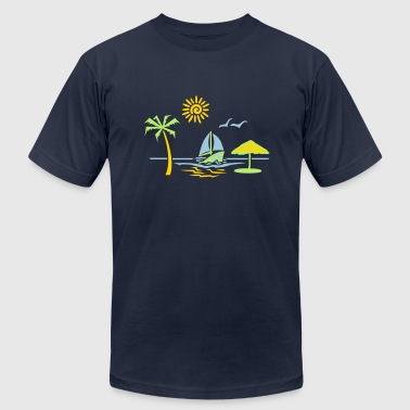 island_paradise_vacation_beach - Men's Fine Jersey T-Shirt