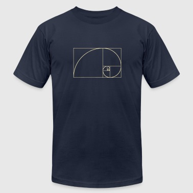 Golden Ratio Golden Spiral, Golden Ratio, Phi, Fibonacci - Men's Fine Jersey T-Shirt