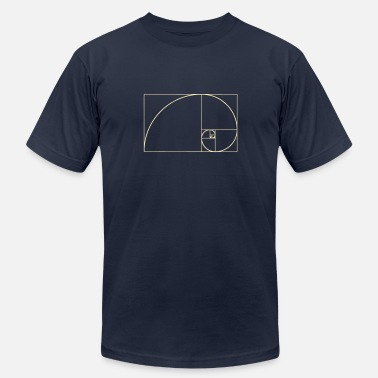 Phi By Numbers Golden Spiral, Golden Ratio, Phi, Fibonacci - Men's  Jersey T-Shirt
