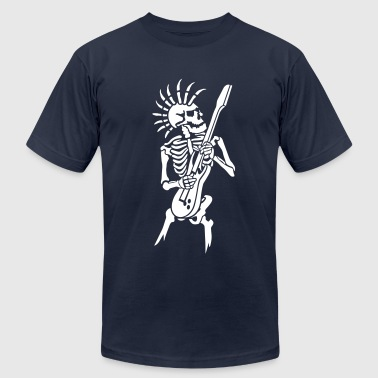 Skeleton with guitar - Men's Fine Jersey T-Shirt