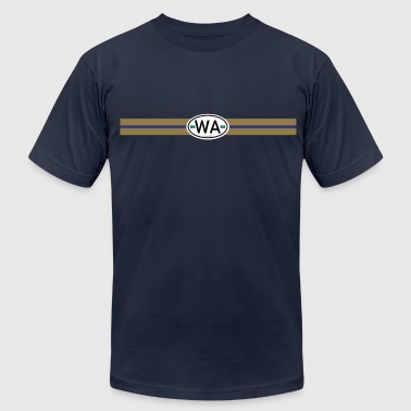 Auto Sticker Washington Racing Stripe hu - Men's Fine Jersey T-Shirt