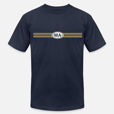 Auto Sticker Washington Racing Stripe hu - Men's  Jersey T-Shirt