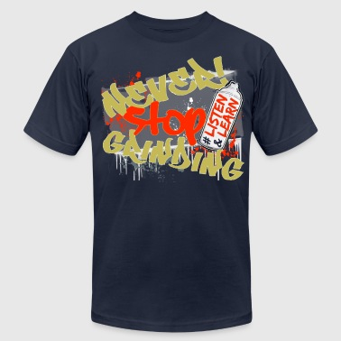Navy Never Stop Grinding - Men's Fine Jersey T-Shirt