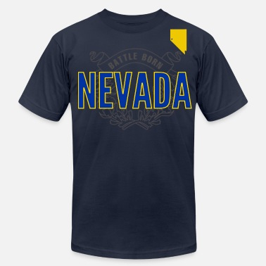 Nevada Wolf Pack basketball/football Battle Born  - Men's Jersey T-Shirt