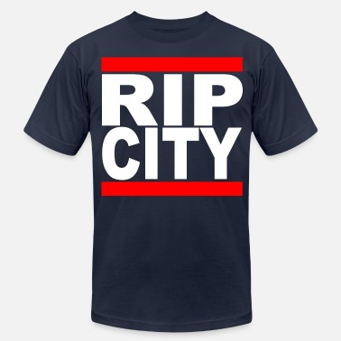 Portland Run RipCity (White) - Men's Fine Jersey T-Shirt