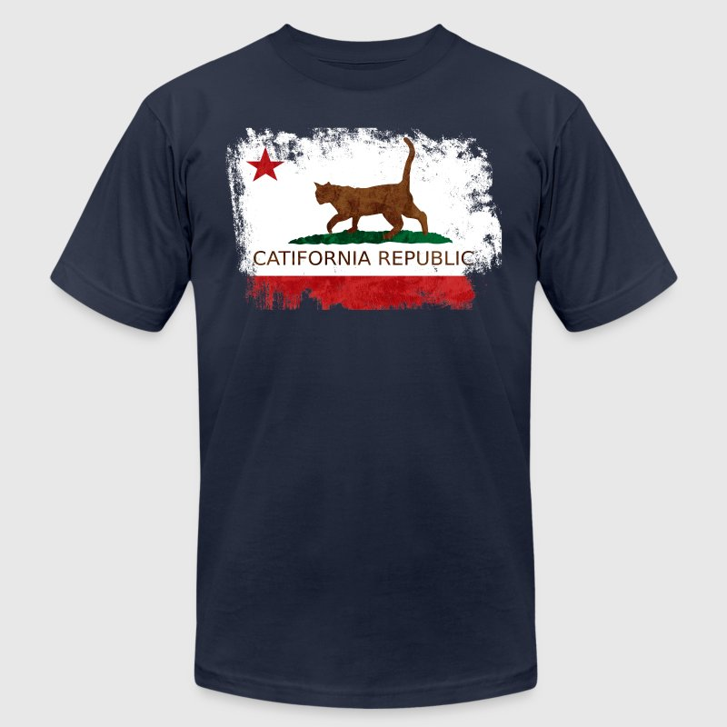 CATifornia Republic - Men's Fine Jersey T-Shirt