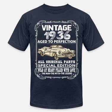 1936 Aged To VINTAGE 1936-AGED TO PERFECTION - Men's  Jersey T-Shirt