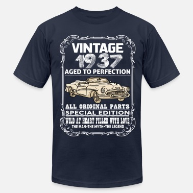 1937 Aged To Perfection VINTAGE 1937-AGED TO PERFECTION - Men's  Jersey T-Shirt