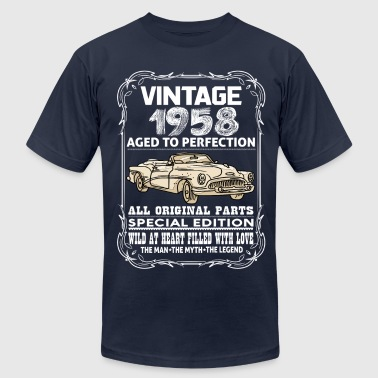 VINTAGE 1958-AGED TO PERFECTION - Men's Fine Jersey T-Shirt