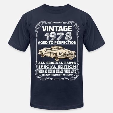 1978 Aged To VINTAGE 1978-AGED TO PERFECTION - Men's  Jersey T-Shirt