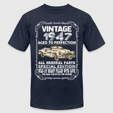 VINTAGE 1947-AGED TO PERFECTION - Men's Fine Jersey T-Shirt