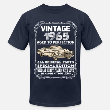 April 1965 VINTAGE 1965-AGED TO PERFECTION - Men's Fine Jersey T-Shirt
