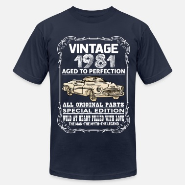 1981 Aged VINTAGE 1981-AGED TO PERFECTION - Men's  Jersey T-Shirt