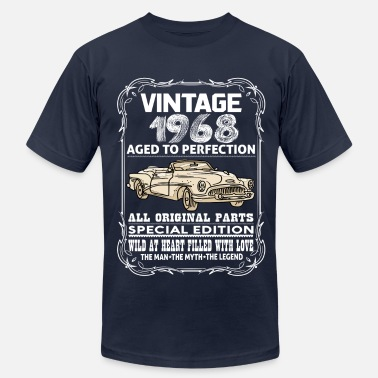 Aged To Perfection 1968 Birthday VINTAGE 1968-AGED TO PERFECTION - Men's  Jersey T-Shirt