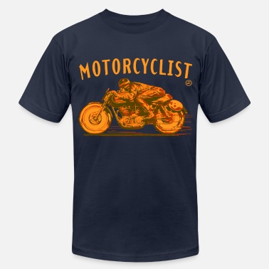Velocette motorcyclist - Men's  Jersey T-Shirt