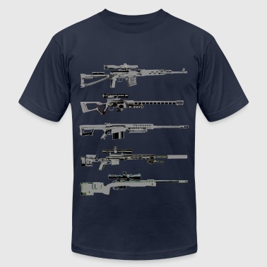 Sniper Rifles - Men's Fine Jersey T-Shirt