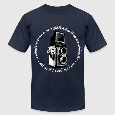 Bi Nature Act as if I were not here En-Th (Yashica Bi-white) - Men's Fine Jersey T-Shirt