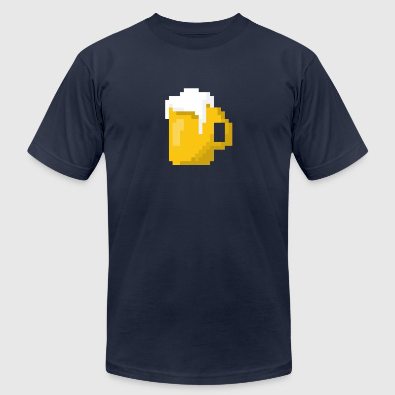 Beer 8bit - Men's Fine Jersey T-Shirt