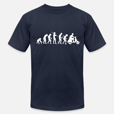 Scooter Evolution Motorcycle Rider Evolution Scooter Vespa - Men's Fine Jersey T-Shirt