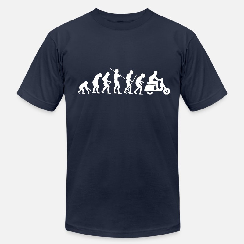 Scooter T-Shirts - Motorcycle Rider Evolution Scooter Vespa - Men's Jersey T-Shirt navy