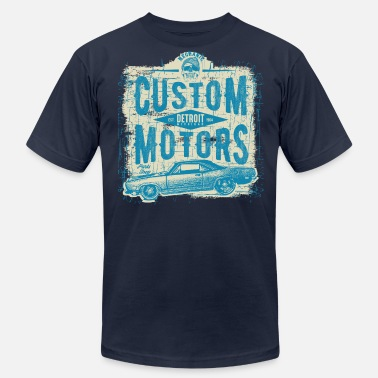 Custom Auto Detroit Customs - Men's Fine Jersey T-Shirt