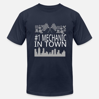 Car Town Mechanic in Town - Men's Jersey T-Shirt