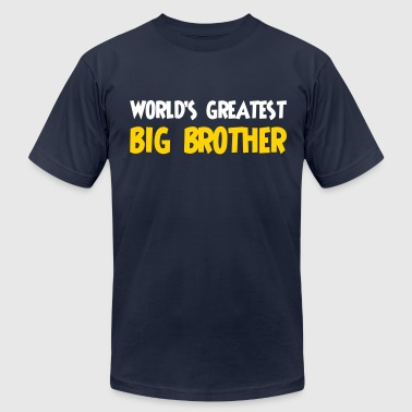Worlds Greatest Big Brother World's greatest big brother - Men's Fine Jersey T-Shirt
