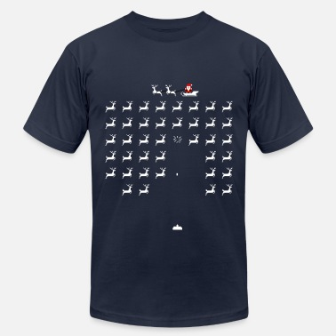 Space invaders santa - Men's Fine Jersey T-Shirt