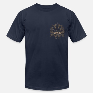 Weed Social 7 Weed Design - Gold - Men's  Jersey T-Shirt