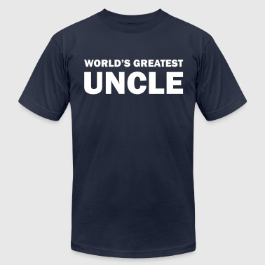 Worlds Coolest Uncle World's greatest uncle - Men's Fine Jersey T-Shirt