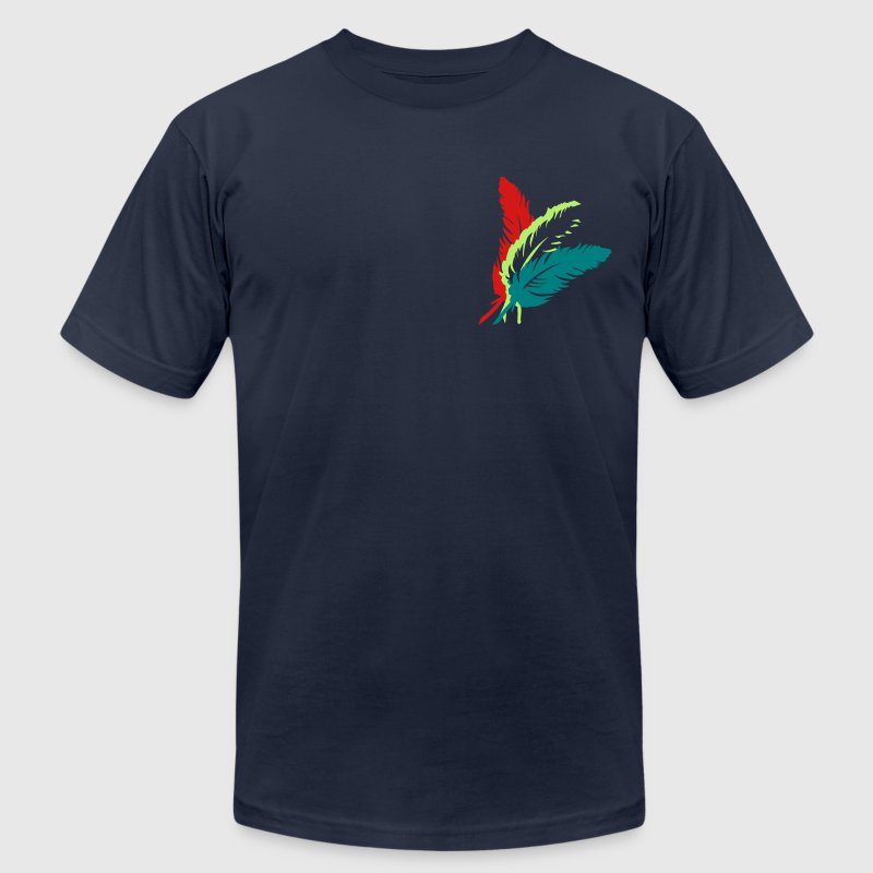 Three colorful feathers - Men's Fine Jersey T-Shirt