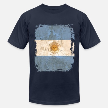 Flag Of Argentina Argentina Flag - Men's Fine Jersey T-Shirt