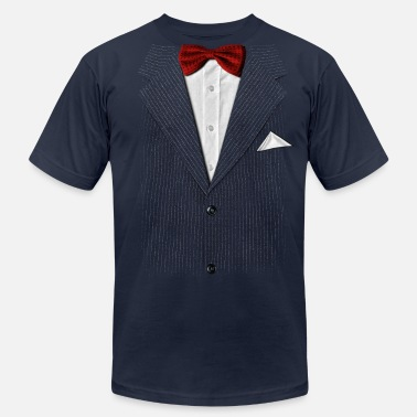 Breast Optical Illusion bow tie - Men's Fine Jersey T-Shirt